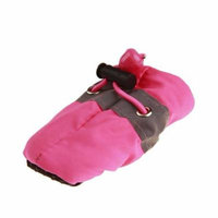 Hot Sale New Antiskid Puppy Shoes Soft-soled Pet Dog Shoes Waterproof Small Dog Prewalkers(Pink)