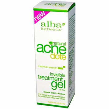 Alba Botanica, Acne Dote, Invisible Treatment Gel, Oil-Free, 0.5 oz(pack of 12)