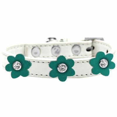 Flower Premium Collar White With Jade Flowers Size 14
