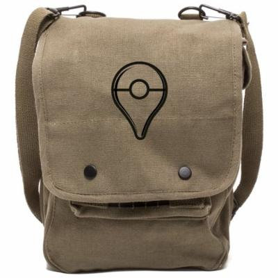 Pokemon Go Plus Button Canvas Crossbody Travel Map Bag Case