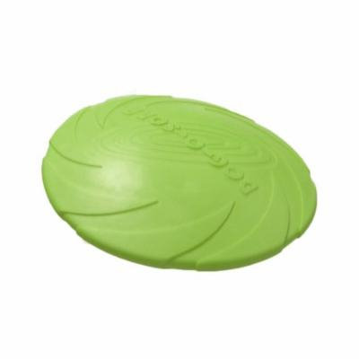Dog Training Toys Milk Scent Pure Natural Rubber Frisbee Round Teething Toy,Green