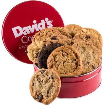 Davids Cookies David's Cookies Fresh Baked Cookies Gift Tin, 12 count, 1 lb