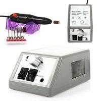 Besmall Electric Nail Drill Manicure Pedicure File Acrylic Kit Set Bits Gel Polish Grey (main control machine) & Black (hand pie
