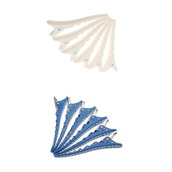 MagiDeal 12Pcs Hair Clips Clamp Salon Hair Tools Accessories Hair Care Styling Barrettes Blue and White