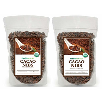 Healthworks Cacao/Cocoa Nibs Raw Organic (64 Ounces / 4 Pound) (2 x 2 Pound Bags) | Unsweetened Chocolate Substitute | Certified Organic | Keto, Vegan & Non-GMO | Antioxidant Superfood | Peruvian Bean