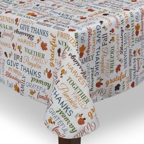 Be Thankful Thanksgiving Tablecloth - Harvest Print