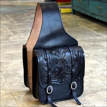 HILASON WESTERN LEATHER COWBOY TRAIL RIDE HORSE SADDLE BAG 12 X 11 X 3.5 INCH