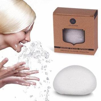 Konjac Sponge Natural White Facial Cleansing Sponge for Sensitive Skin by Lagunamoon