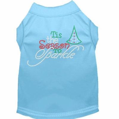 Tis The Season To Sparkle Rhinestone Dog Shirt Baby Blue Xxxl (20)