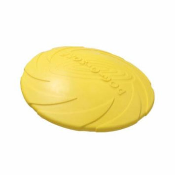 Dog Training Toys Milk Scent Pure Natural Rubber Frisbee Round Teething Toy,Yellow