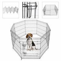 Koval Inc. Dog Playpen Kennel Exercise Fence 8-Panel (Black 30