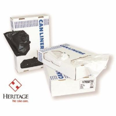 Heritage Trash Bag LLDPE Super Tuf Duty Clear 40 - 45 gal. 0.90 Mil. 40 X 46 Inch Twist Tie Flat Pack Case of 100