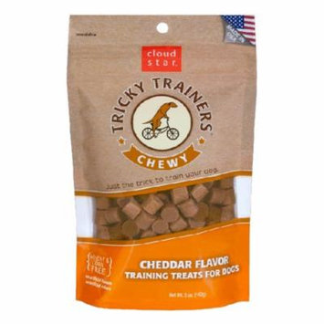 Cloud Star Chewy Tricky Trainers Cheddar Dog Treats 5 oz Pouches - Pack of 1