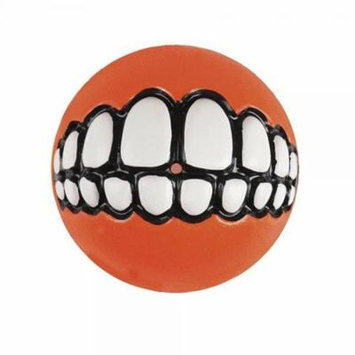 Rogz Fun Dog Treat Ball in various sizes and colors, Large, Orange