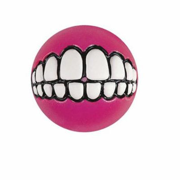 rogz fun dog treat ball in various sizes and colors, small, pink