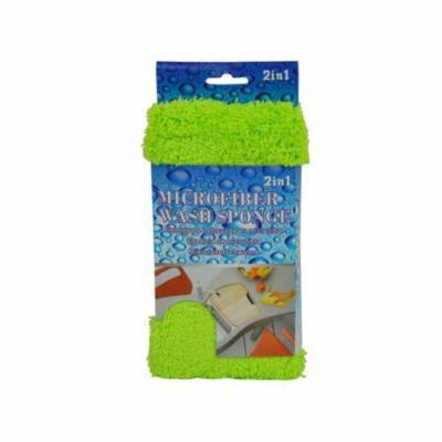 Bulk Buys UU284-24 2 In 1 Microfiber Wash Sponge