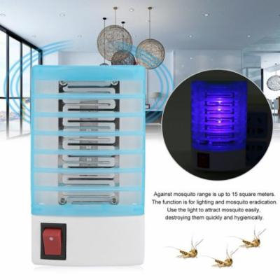 NEW Upgraded 4pcs 110V Mini Household Electric LED Environmental Protective Mosquito Fly Bug Insect Trap Zapper Killer Repellent Night Lamp(Blue+White)