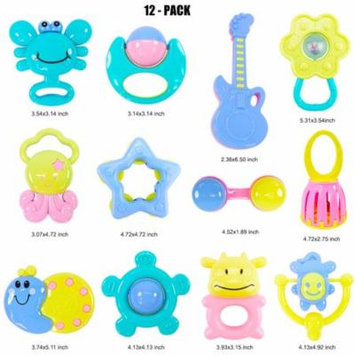 DZT1968 12pcs Baby Rattles Teether Ball Shaker Grab And Spin Rattle Musical Toy Gift