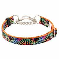 Country Brook Petz™ Tie Dye Stripes Grosgrain Ribbon Half Check Dog Collar