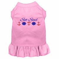 Set Sail Embroidered Dog Dress Light Pink Xl (16)