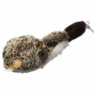 Multipet Bouncy Burrow Beaver 20-Inch No Stuffing Dog Toy