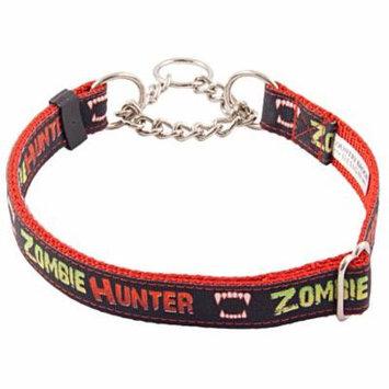 Country Brook Petz™ Zombie Hunter Grosgrain Ribbon Half Check Dog Collar