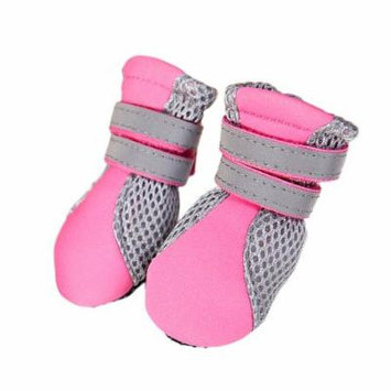 Pure Rubber Soft Sole Walking Running Dog Shoes for Small Pet Dog Puppy Cat,Pink