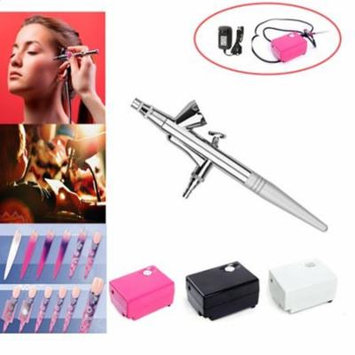 Pinkiou Airbrush Makeup Kit Air Brush with Mini Compressor for Face Paint 0.4mm Needle Nail Art Body Paint Nail Art Air Brush Set (black)