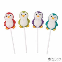 Holiday Brights Penguin Lollipops Pack of 4