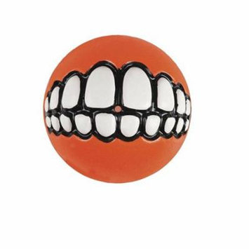 Rogz Fun Dog Treat Ball in various sizes and colors, Small, Orange