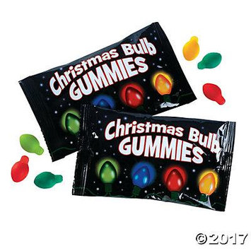 Christmas Bulb Gummy Candy Pack of 4