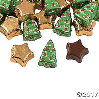 Christmas Tree & Star Chocolate Candy Pack of 2