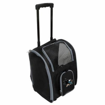 NHL San Jose Sharks Premium Pet Carrier with Wheels