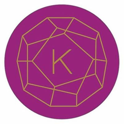 Weddingstar 4452-56-1075-145-c46 Designer Compact Mirror Gem Stone Print, Rose Gold & Bright Purple