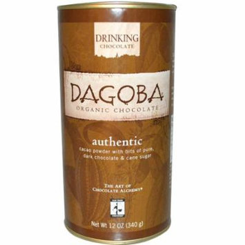 Dagoba Organic Chocolate, Drinking Chocolate, Authentic, 12 oz (pack of 4)