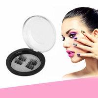 4Pcs Magnetic Eyelash False Lashes Non-glue Magnetic Lashes False Eyelashes Makeup Toiletry Cosmetics 3D Lashes Kit Set