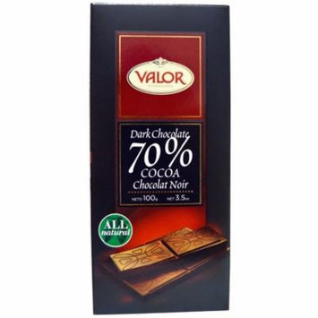 Valor, Dark Chocolate, 70% Cocoa, 3.5 oz(pack of 12)