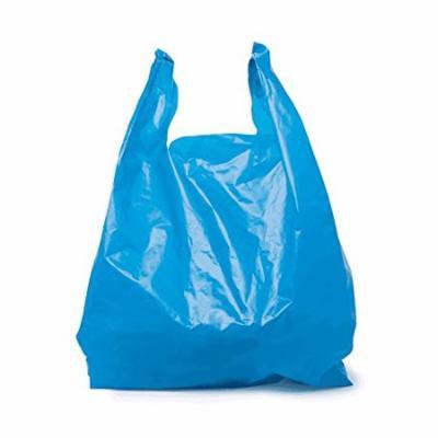 SafePro JSB, 16x10x28-Inch Blue Plastic Jambo T-Shirt Shopping Bags, Polyethylene Grocery Bags, 200-Piece Case