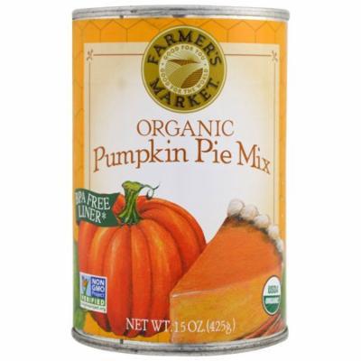 Farmer's Market Foods, Organic Pumpkin Pie Mix, 15 oz(pack of 2)