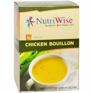NUTRIWISE - High Protein Diet Soup  Chicken Bouillon  Low Calorie, Fat Free, Low Carb (7/Box)