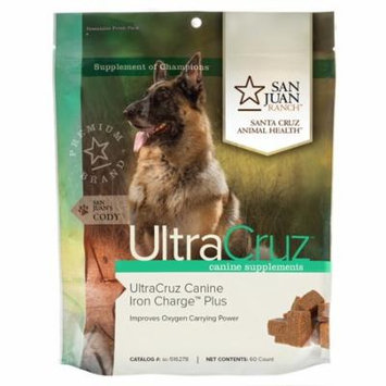 UltraCruz Canine Iron Charge Plus Supplement for Dogs, 60 tasty chews