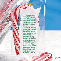 Mini Bible Verse Candy Canes Pack of 12