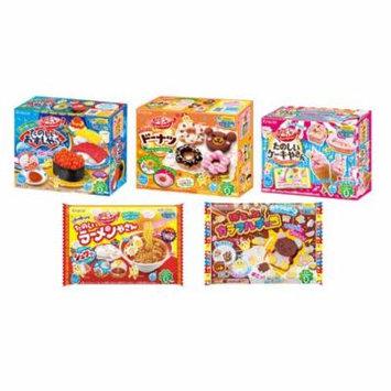 Kracie Popin' Cookin' DIY Gummy Candy Making Kit 5-Piece Box/Bag Set B (Sushi, Donut, Ice Cream, Ramen, Colorful Chocolate)