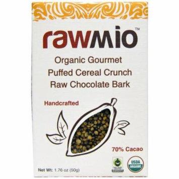 Rawmio, Organic Gourmet Puffed Cereal Crunch Raw Chocolate Bark, 1.76 oz (pack of 1)