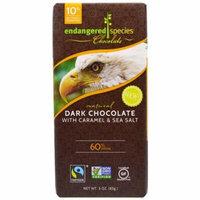 Endangered Species Chocolate, Dark Chocolate With Caramel & Sea Salt, Natural, 3 oz(pack of 6)