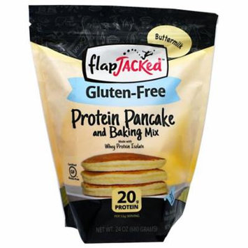 FlapJacked, Protein Pancake and Baking Mix, Gluten-Free Buttermilk, 24 oz(pack of 6)