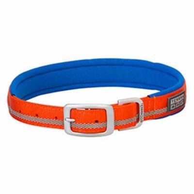 Weaver Leather 07-0861-R3-21 21 in. Terrain Reflective Lined Dog Collar - Orange