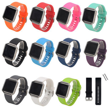 Girl12Queen Replacement Silicone Wrist Band Strap Bracelet Watchband for Fitbit Blaze Watch