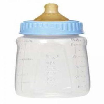 Clear Plastic Baby Bottles, Assorted Sizes and Colers, Slow Flow, Medium Flow, (6) (5 oz slow flow)