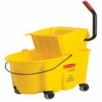 YELLOW MOPPING BUCKET AND WRINGER COMBO PACK